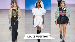 Louis Vuitton manches bouffantes