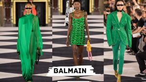 balmain green look