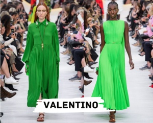 valentino green look