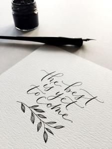Crayon caligraphie